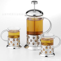 Manufacturers selling tea to implement a three-piece 350 ml  + 200 ml * 2 rewed coffee pot/filter pot of tea