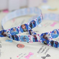 3/8'' Free shipping frozen printed grosgrain ribbon hairbow party decoration diy wholesale OEM 9mm P2928