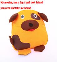 Free shipping 2014 new fashion Cute 3D cartoon lovely dog shipe children school bags, kids school bags kids backpack best gift