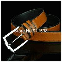 Free shipping 1 piece Han edition men's leather belt fashion tide pin buckle male leisure joker benmingnian belt #HSB001