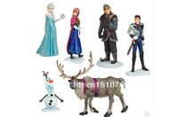 Frozen Figure Play Set (6 pieces/lot) 2014 New Movie Frozen Toys Princess Elsa Anna Olaf Sven Hans Kristoff