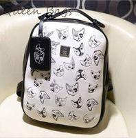 Original design 2014 Women  Vinateg PU leather Tarvel Bag Children cartoon print School Bag Famous brand Backpack S3721