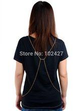 Hot Selling Fashion Women Sexy Gold Body Chain Choker Necklace Belly Belt Chain Jewelry Women Waist