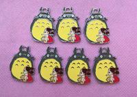 Wholesale New  100Pcs cute My Neighbor Totoro  Metal Charms pendants DIY Jewellery Making crafts