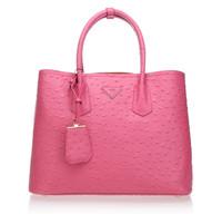 2014 new [100% GENUINE LEATHER] Women handbag    brand name lady bag  Fake Ostrich  handbag women famous Genuine leather bag