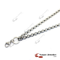 "Free Shipping 24"" (5.5mm Width) Rolo Chain (R002) for 316L Stainless Steel Glass Pendant Floating Charms Living Lockets"