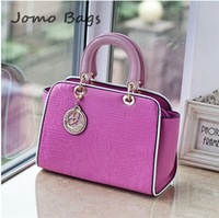 Top selling 2014 New arrive women's fashion sweet lovely PU leather candy color handbag  messenger bag f