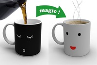Mug Morning Coffee Cup Tea Hot Magic Color Changing Cold Heat Funning Smile Face Latte Mugs Good gift
