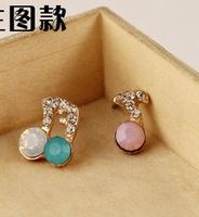 New Cheap Jewelry Lovely Pink Created Gemstone Cute Brand Earrings for Women Wholesale new 2014