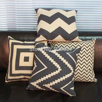2014 Modern Decorative Vintage Shabbi chic Linen Throw Cushion Cover Pillow Case Home Textile Sofa Bedding Couch Decor 4pcs/set