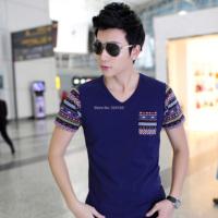 2014  new fashion men's casual suit slim men's T-shirt shirt Mens Shirt  Korean version of the new king free shipping