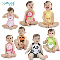 2014 summer new 0-3 year old infants Triangle Romper cotton climbing clothes