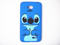 New plastic cartoon stitch hard back case cover fit for LG L70 case for LG L70 D320 D325  blue dog protector hard shell