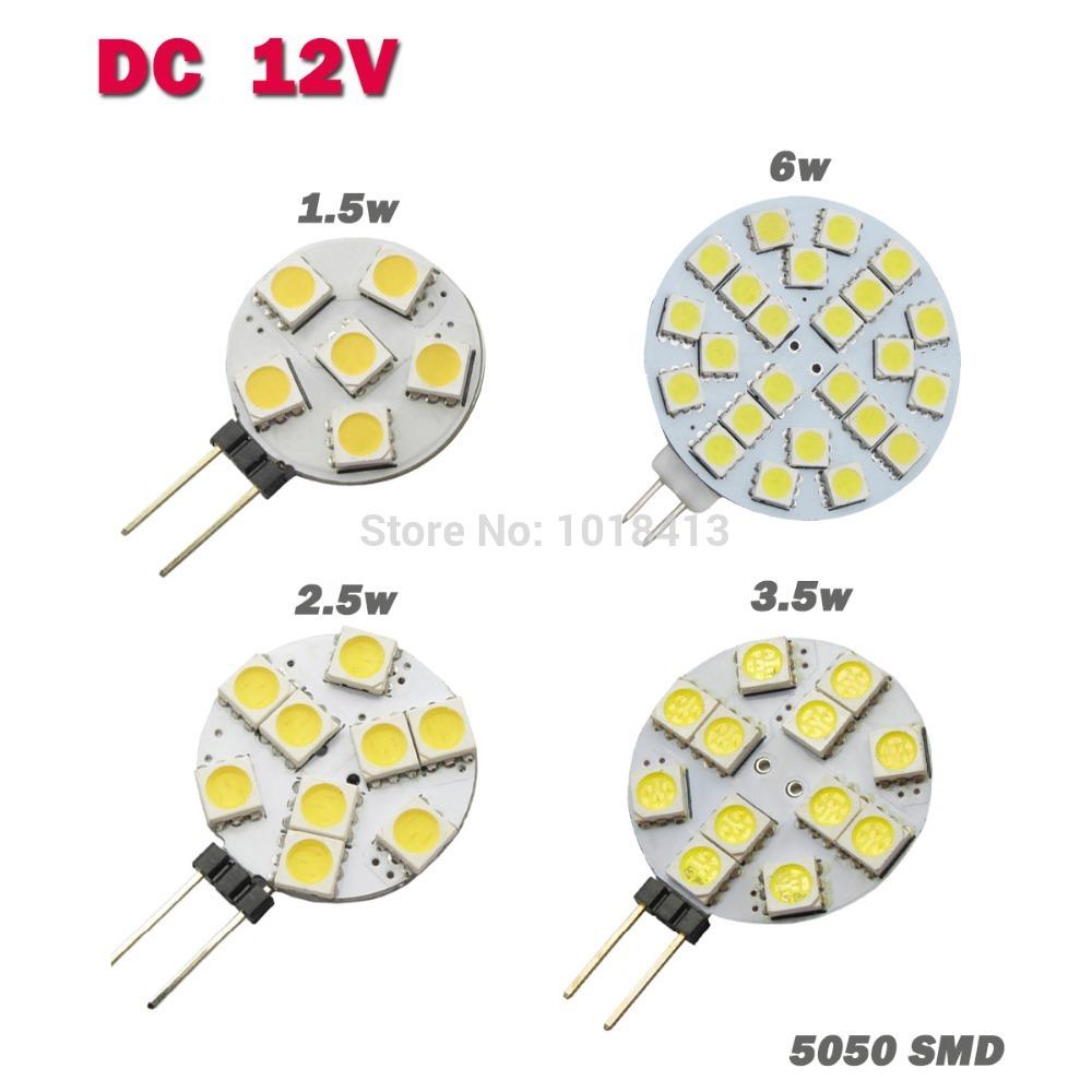 10 PCS DC 12V G4 LED Lamp Bulb 6/9/12/24PCS 5050 SMD Light Home Car RV Marine Boat LED Lighting Free Shipping(China (Mainland))