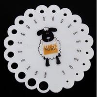 10pcs/lot Round Plastic Knitting Knit Needle Sizer Gauge Ruler Measure Tool 2/2.25/2.5/2.75/3.25/3.5/3.75/4/4.5/5/6/7//8/9/10mm