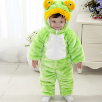 Baby dresses dimensional frog suit and cotton baby suit
