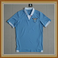 Embroidery Logo!!! 14/15 Lazio Home Blue Soccer Jersey ,Thailand Quality Lazio Blue Shirt+Free Shipping