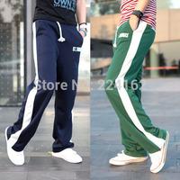 2014 new fashion  pants men's sport of men's pants tide spring straight legged trousers slim men's casual pants free shipping