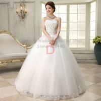 Good quality White Sexy  wedding gowns sweet princess Slim plus size wedding dress 2014 Custom made WH62212