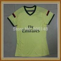 Free Shipping!! AC Milan Third Yellow Women Soccer Jersey 14/15,Thailand Quality AC Milan lady Soccer Shirt+Embroidery Logo
