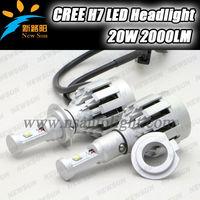 New Direct Plug Error Free LED H7 4000LM Head Light Fog Lamp CREE XM L2 LED headlight kit ALL-IN-ONE 40W 4000lm h7 led headlight