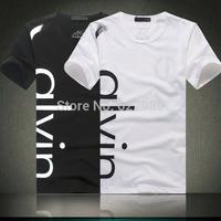2014 New Men  O-Neck Collar T-shirt,man's short shirt ,casual tshirt for man,Men's Fashion Calvin shirt,Hot Sale