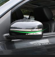 2pcs Renault Koleos 2009 2010 2011 2012 2013 2014 Mirror anti-rub decoration ABS Chrome trim