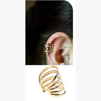 2 Min Order $6(Mix Order) C151 18k Gold Plating Punk Style Alloy Clip Earrings Ear Cuff  Wholesale