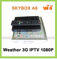 5pcs/lot  DVB-S2 STB SKYBOX A6 TV box +FTA FULL HD 1080P internet youtube weather Support 3G and IPTV