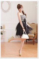 Free Shipping Uncommon 2014 Fashion Summer Celebrity Dress Black