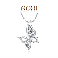 ROXI delicate platinum plat new arrival butterfly necklaces,fashion jewelrys for women,factory price,Christmas gifts