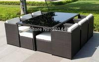 Rattan Wicker Cube set outdoor garden patio furniture dining table