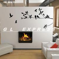 Best Price Tree and Bird Wall Stickers Vinyl Art Decals