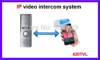 IP  wired  networ 4 wire valli Video Door Phone ourtdoor unite 3G  mobine phone contorl