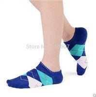 Summer New Men's socks  striped cotton argyle socks