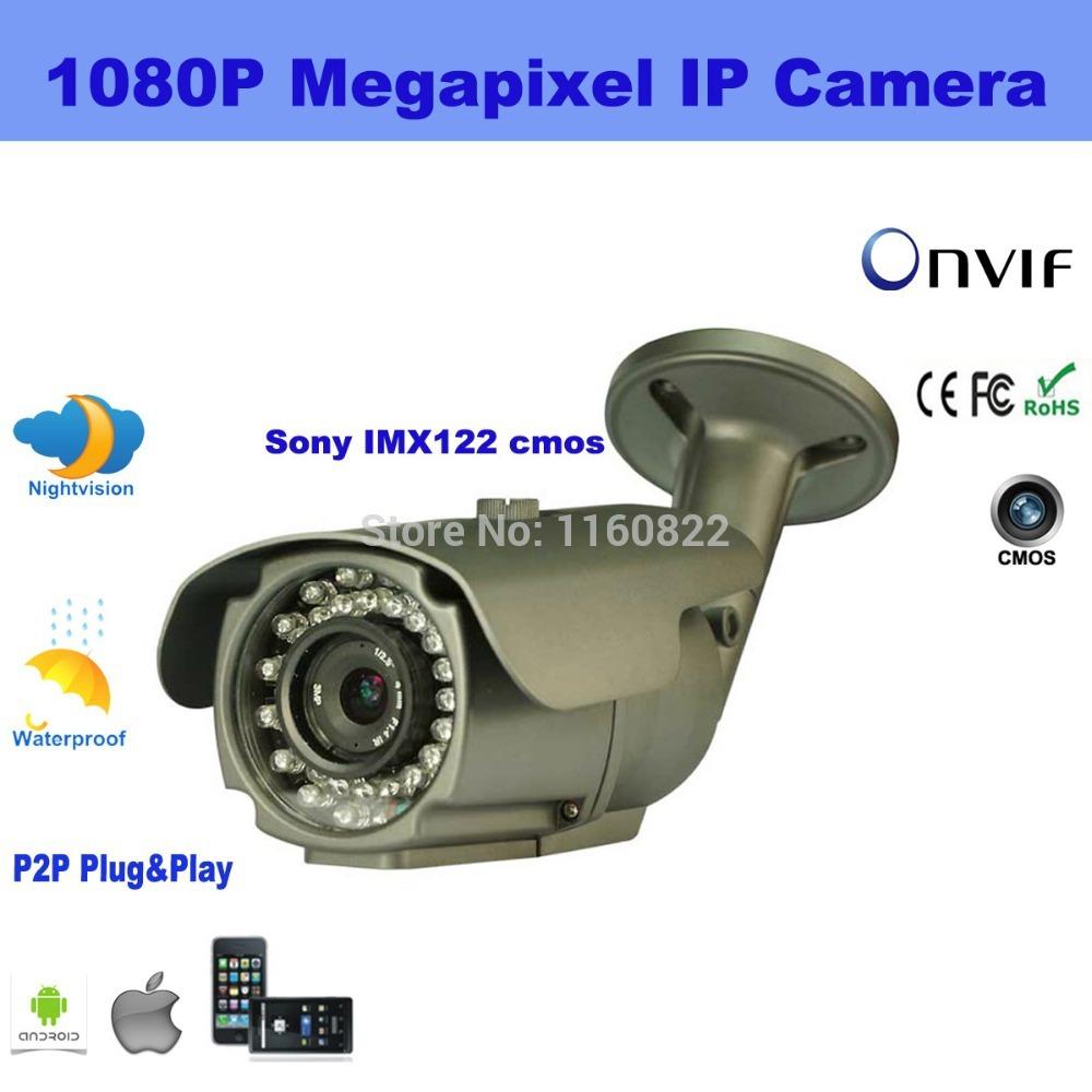 ONVIF 1080P Sony Cmos 6mm Lens 2.0 Megapixel Full HD CCTV IP Camera Low Lux Support P2P Plug Play IR CUT(China (Mainland))