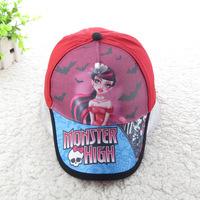Monster.High Caps 2015 Monster Hight Original Adjustable Cute Kids Girl's Sports Hats Baseball Caps retail Free Shipping DA343