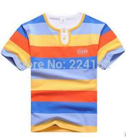 2014 new Fashion children's clothing male child T-shirt short-sleeve shirt 100% cotton o-neck big boy short-sleeve free shipping