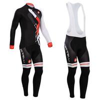 2014 Castelli Long Sleeve Cycling Jersey and Cycling Bib Pants Castelli Cycling Clothing 2014 Free Shipping