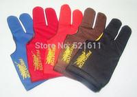 Free shipping 6pcs/lot high Elasticity 3 finger billiard gloves/Pool Table Snooker billiard table Gloves