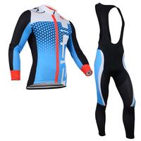 New 2014 Castelli Thermal Long Sleeve Cycling Jersey +Thermal Bib Pants Kit Winter Cycling Clothing 2014 Free Shipping