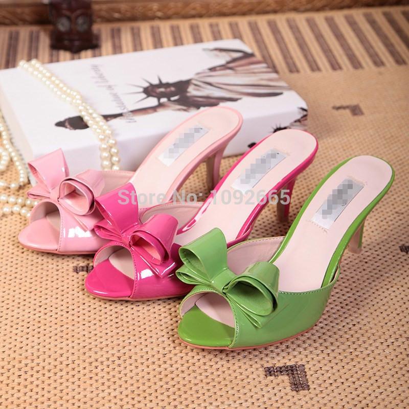 Neuen 2014 valentin sandalen slipper, europäischen marken frauen sandale, Fliege frauen hoch- absätzen pantoffel Größe 34-40 versandkostenfrei