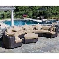 Conservation wicker&rattan garden furniture set patio sofa