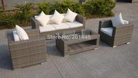 Contemporary rattan furniture sofa set outdoor garden patio lounge furniture set