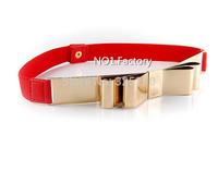 1PCS 67cm Women Punk Metal Mirror Waist belt female Metallic Gold Plate Wide Cummerbunds belt for Lady