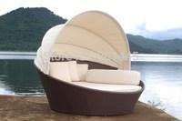 Rattan Lounge outdoor garden wicker furniture sun lounger