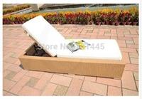 Outdoor lounge rattan wicker sun lounger set patio garden furniture