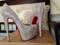 Fashion Women's Pumps Luxura rhinestone crystal strass Platform Sandals High Heels wedding bride shoes pumps