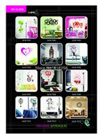 Free shipiing 2014 Hua Yan latest creative DIY wall stickers wallpaper wall clock personalized DIY Wallpaper