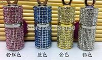 U20 Wholesale Fashion Crystal Cylinder 16GB 32GB USB 2.0 Flash Memory Stick Drive U Disk Festival Thumb/Car/Pen Gift